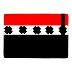 Red, White And Black With X s Electronic Accessories Samsung Galaxy Tab Pro 10 1  Flip Case