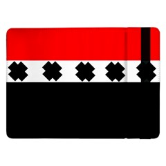 Red, White And Black With X s Electronic Accessories Samsung Galaxy Tab Pro 12.2  Flip Case