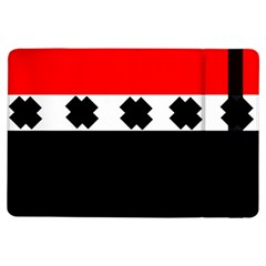 Red, White And Black With X s Electronic Accessories Apple iPad Air Flip Case