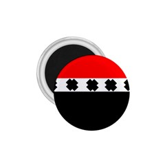 Red, White And Black With X s Design By Celeste Khoncepts 1.75  Button Magnet