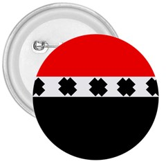 Red, White And Black With X s Design By Celeste Khoncepts 3  Button