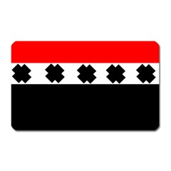 Red, White And Black With X s Design By Celeste Khoncepts Magnet (rectangular)