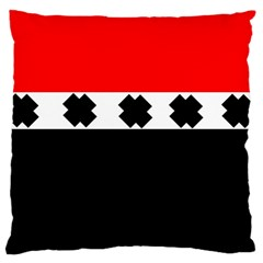 Red, White And Black With X s Design By Celeste Khoncepts Large Cushion Case (single Sided)