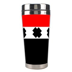 Red, White And Black With X s Design By Celeste Khoncepts Stainless Steel Travel Tumbler