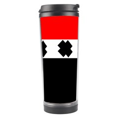 Red, White And Black With X s Design By Celeste Khoncepts Travel Tumbler