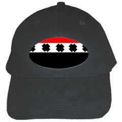 Red, White And Black With X s Design By Celeste Khoncepts Black Baseball Cap
