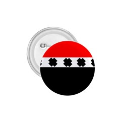 Red, White And Black With X s Design By Celeste Khoncepts 1.75  Button