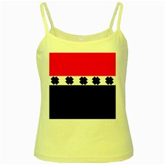 Red, White And Black With X s Design By Celeste Khoncepts Yellow Spaghetti Tank