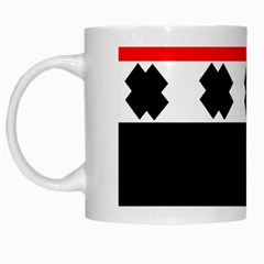 Red, White And Black With X s Design By Celeste Khoncepts White Coffee Mug
