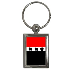 Red, White And Black With X s Design By Celeste Khoncepts Key Chain (rectangle)
