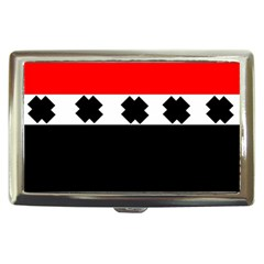 Red, White And Black With X s Design By Celeste Khoncepts Cigarette Money Case