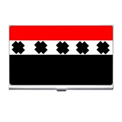 Red, White And Black With X s Design By Celeste Khoncepts Business Card Holder