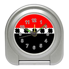 Red, White And Black With X s Design By Celeste Khoncepts Desk Alarm Clock