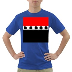 Red, White And Black With X s Design By Celeste Khoncepts Men s T-shirt (Colored)