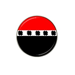 Red, White And Black With X s Design By Celeste Khoncepts Golf Ball Marker 4 Pack (for Hat Clip)