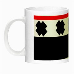 Red, White And Black With X s Design By Celeste Khoncepts Glow in the Dark Mug