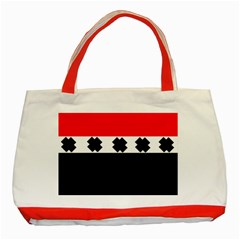 Red, White And Black With X s Design By Celeste Khoncepts Classic Tote Bag (Red)