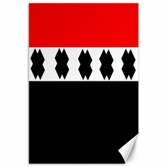 Red, White And Black With X s Design By Celeste Khoncepts Canvas 12  x 18  (Unframed)