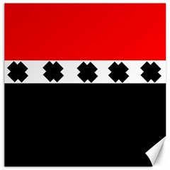 Red, White And Black With X s Design By Celeste Khoncepts Canvas 20  x 20  (Unframed)