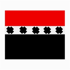 Red, White And Black With X s Design By Celeste Khoncepts Glasses Cloth (small, Two Sided)