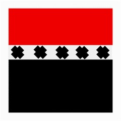 Red, White And Black With X s Design By Celeste Khoncepts Glasses Cloth (medium, Two Sided)