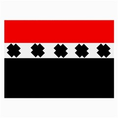 Red, White And Black With X s Design By Celeste Khoncepts Glasses Cloth (Large, Two Sided)