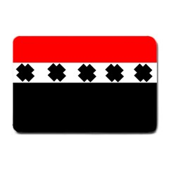 Red, White And Black With X s Design By Celeste Khoncepts Small Door Mat