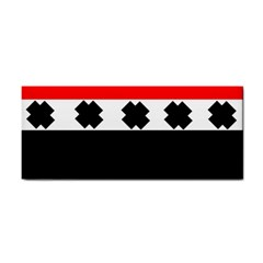 Red, White And Black With X s Design By Celeste Khoncepts Hand Towel