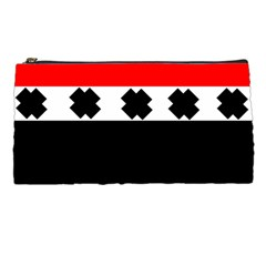 Red, White And Black With X s Design By Celeste Khoncepts Pencil Case