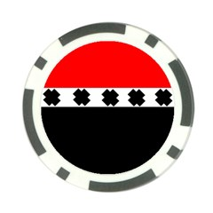 Red, White And Black With X s Design By Celeste Khoncepts Poker Chip (10 Pack)