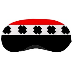 Red, White And Black With X s Design By Celeste Khoncepts Sleeping Mask