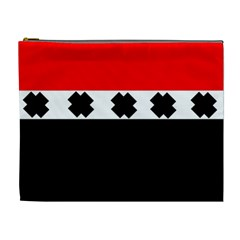 Red, White And Black With X s Design By Celeste Khoncepts Cosmetic Bag (xl)