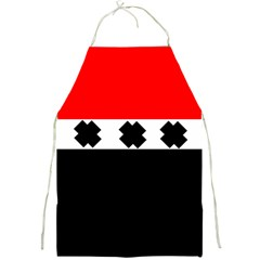 Red, White And Black With X s Design By Celeste Khoncepts Apron