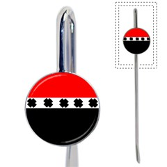 Red, White And Black With X s Design By Celeste Khoncepts Bookmark