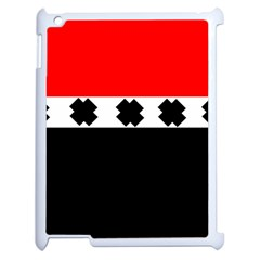 Red, White And Black With X s Design By Celeste Khoncepts Apple iPad 2 Case (White)