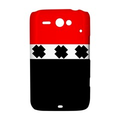 Red, White And Black With X s Design By Celeste Khoncepts HTC ChaCha / HTC Status Hardshell Case