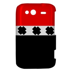 Red, White And Black With X s Design By Celeste Khoncepts HTC Wildfire S A510e Hardshell Case