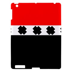 Red, White And Black With X s Design By Celeste Khoncepts Apple Ipad 3/4 Hardshell Case