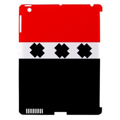 Red, White And Black With X s Design By Celeste Khoncepts Apple Ipad 3/4 Hardshell Case (compatible With Smart Cover)