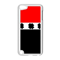 Red, White And Black With X s Design By Celeste Khoncepts Apple iPod Touch 5 Case (White)