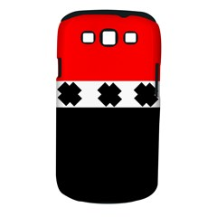 Red, White And Black With X s Design By Celeste Khoncepts Samsung Galaxy S III Classic Hardshell Case (PC+Silicone)