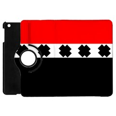 Red, White And Black With X s Design By Celeste Khoncepts Apple Ipad Mini Flip 360 Case