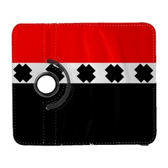 Red, White And Black With X s Design By Celeste Khoncepts Samsung Galaxy S  III Flip 360 Case