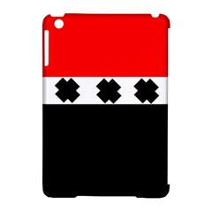 Red, White And Black With X s Design By Celeste Khoncepts Apple iPad Mini Hardshell Case (Compatible with Smart Cover)