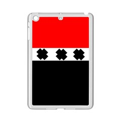 Red, White And Black With X s Design By Celeste Khoncepts Apple iPad Mini 2 Case (White)