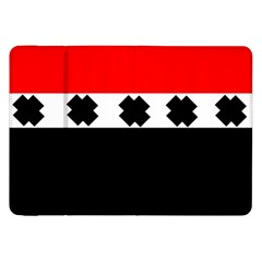 Red, White And Black With X s Design By Celeste Khoncepts Samsung Galaxy Tab 8.9  P7300 Flip Case