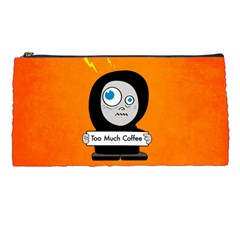 Orange Funny Too Much Coffee Pencil Case