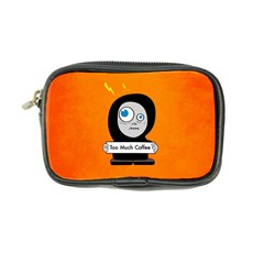 Orange Funny Too Much Coffee Coin Purse