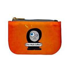 Orange Funny Too Much Coffee Coin Change Purse
