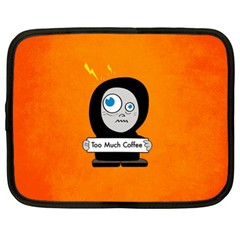 Orange Funny Too Much Coffee Netbook Sleeve (XL)